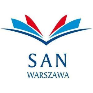 Логотип Общественной Академии Наук в Варшаве